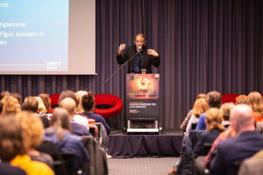 »Dramaturgie der Systeme. Eine Drehbuchlehre fürs 21. Jahrhundert?« FilmStoffEntwicklung 2018, Foto: Andre Wunstorf