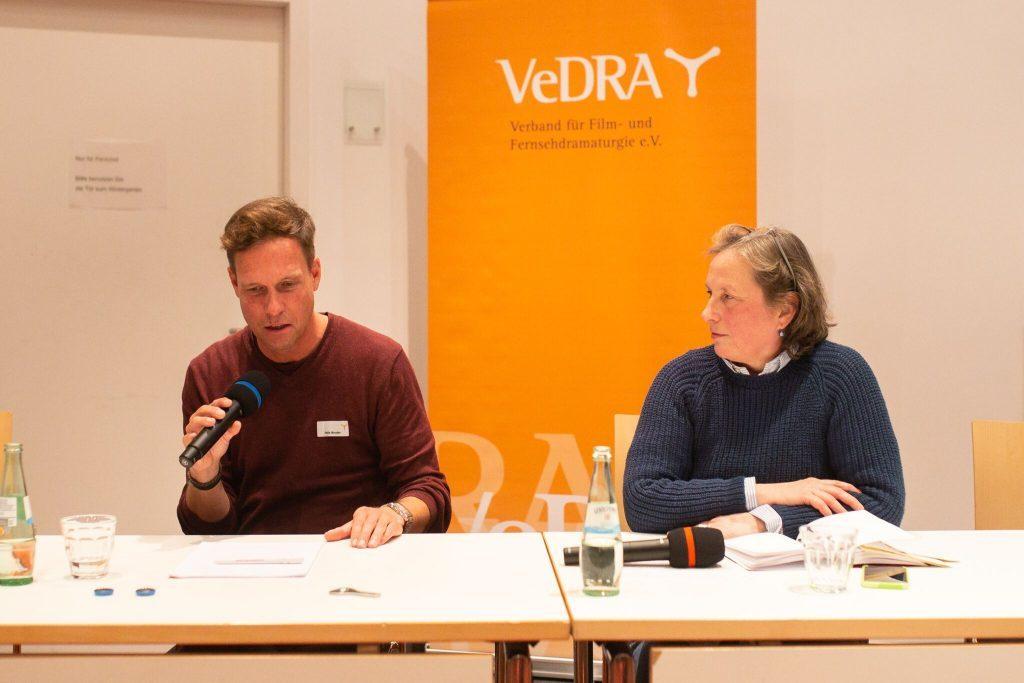 »Film ohne Zuschauer? Zu Gast bei VeDRA: AG Kino - Gilde e.V.« FilmStoffEntwicklung 2018, Foto: Andre Wunstorf